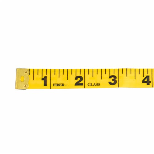 SINGER Heavy-Duty Vinyl Tape Measure - Yellow Perspective: top