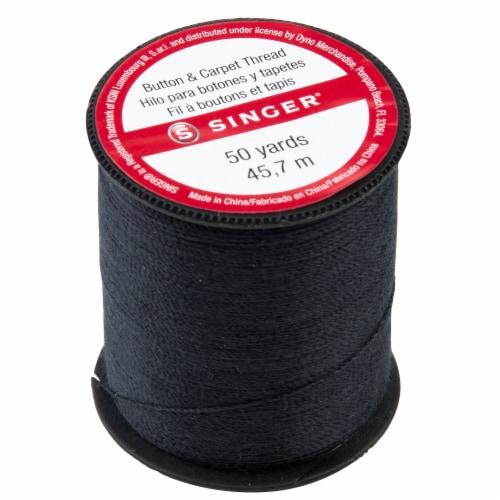 SINGER Button & Carpet Thread - Black Perspective: top