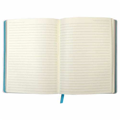 Top Flight Bluesy Marble Journal Perspective: top