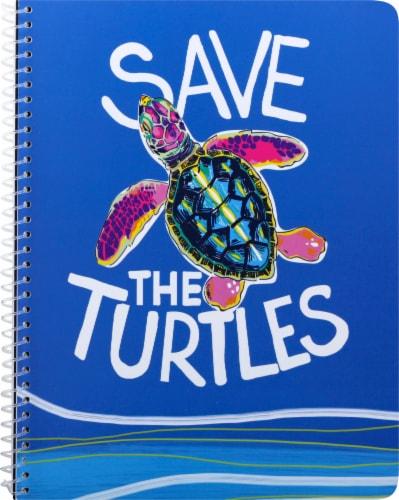 Top Flight Wide Rule Watercolor Geo Notebook - 70 Sheet - Assorted Perspective: top