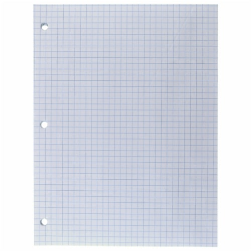 Top Flight Standards® Quad Ruled White Filler Paper - 80 Sheets Perspective: top