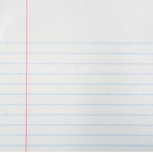 Top Flight SilverPoint College Rule Legal Pad Perspective: top