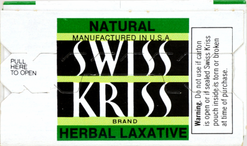Swiss Kriss Flake Form Herbal Laxative Perspective: top