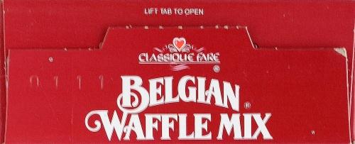 Classique Fair Belgian Waffle Mix Perspective: top