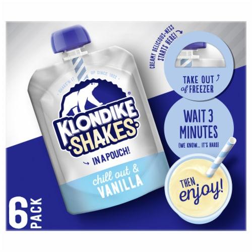 Klondike Shakes Vanilla Milkshake Pouch Perspective: top