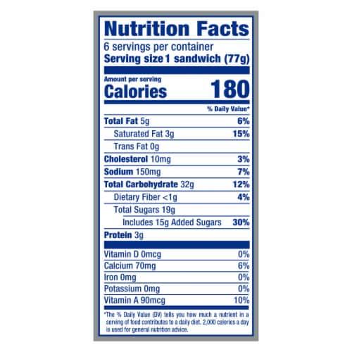 Klondike Classic Vanilla Original Ice Cream Sandwiches Perspective: top