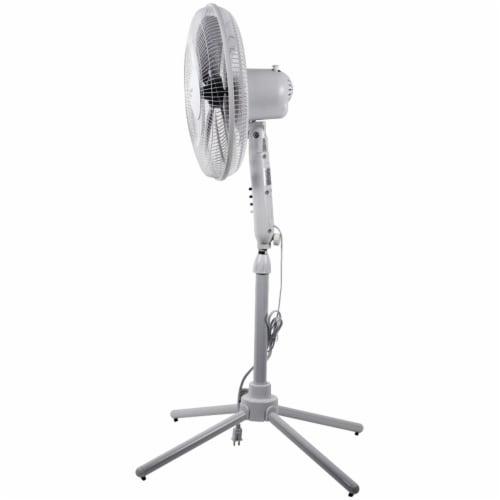 Comfort Zone Oscillating Pedestal Quad Pod Fan - White Perspective: top