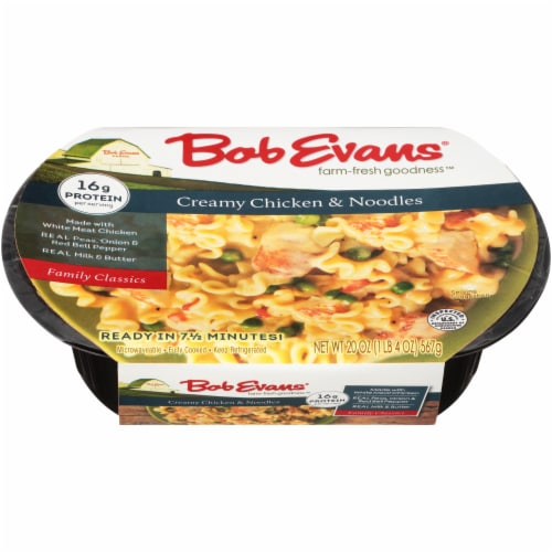 Bob Evans Creamy Chicken & Noodles Side Dishes Perspective: top