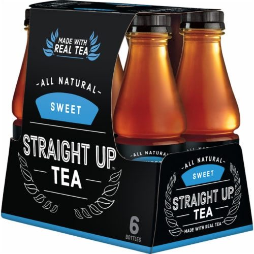 Straight Up Tea All Natural Sweet Black Tea Perspective: top