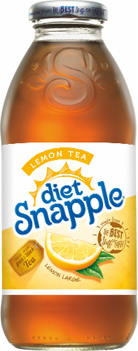 Diet Snapple Lemon Iced Tea Drinks Perspective: top