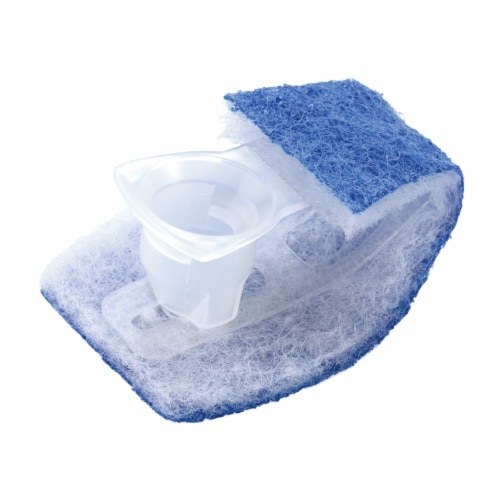 Scotch-Brite™ Toilet Scrubber Disposable Refills - Blue/White Perspective: top