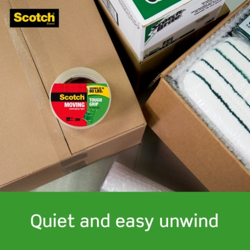 Scotch® Tough Grip Heavy Duty Moving Packaging Tape Perspective: top