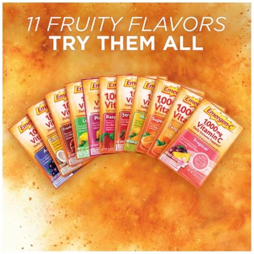 Emergen-C® Super Orange Dietary Supplement Fizzy Drink Packets 1000mg Perspective: top