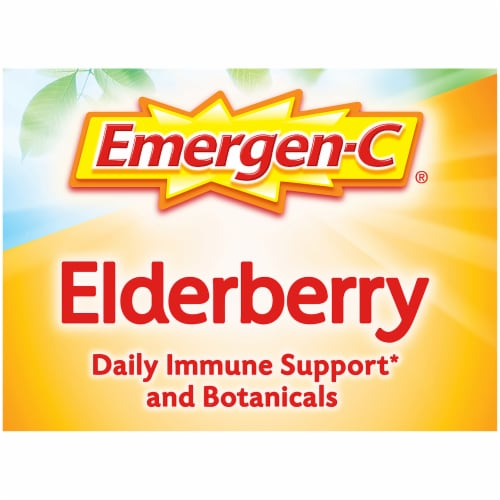 Emergen-C® Elderberry Daily Immune Support Fizzy Drink Mix Packets 250mg Perspective: top