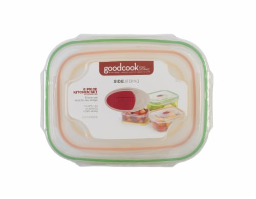 GoodCook® Side Latching Food Storage Set - Multi-Color Perspective: top