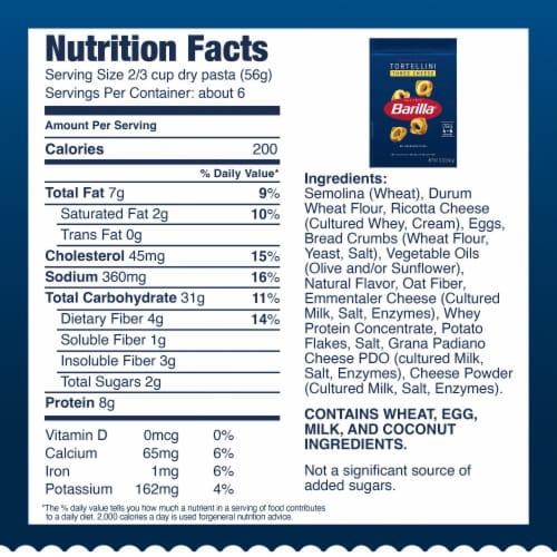 Barilla® Collezione Three Cheese Tortellini Pasta Perspective: top