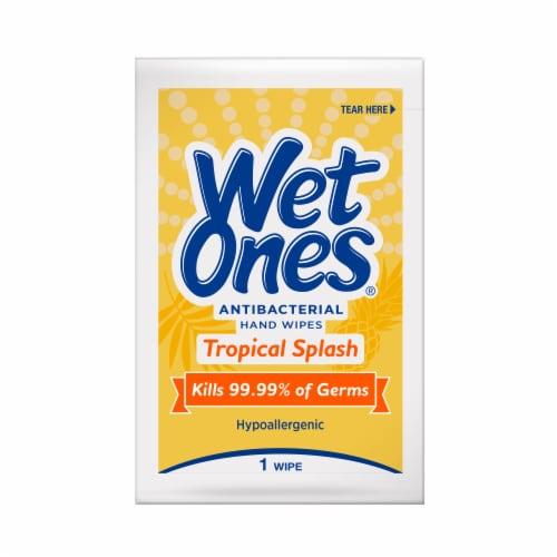 Wet Ones Tropical Splash Scent Antibacterial Wipes Perspective: top