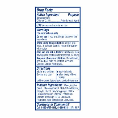 Wet Ones Citrus Antibacterial Hand Wipes Travel Pack Perspective: top