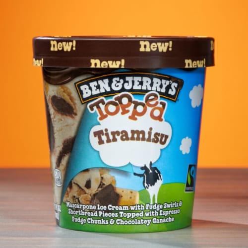 Ben & Jerry's Topped Tiramisu Ice Cream Perspective: top
