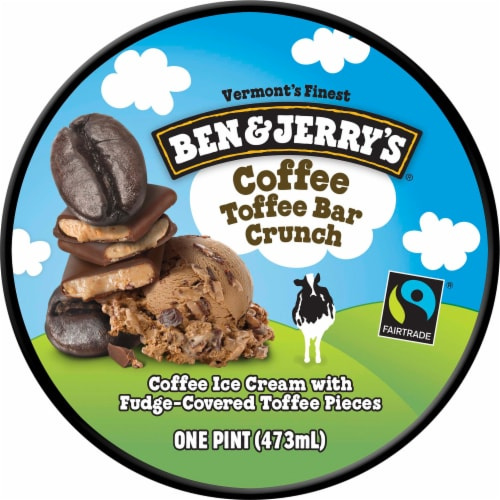 Ben & Jerry's Coffee Toffee Bar Crunch Ice Cream Perspective: top