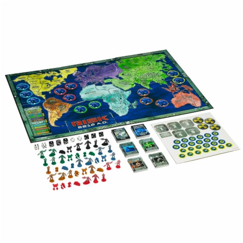 Avalon Hill Risk 2210 AD Board Game Perspective: top