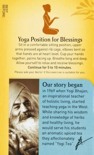 Yogi Comforting Chamomile Caffeine Free Tea Bags Perspective: top