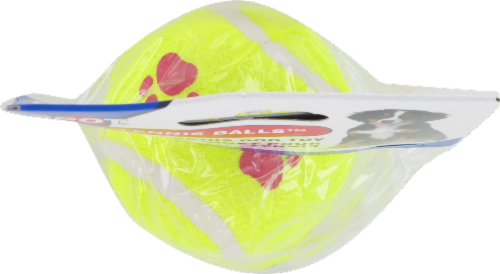 Spot Paw Print Tennis Balls Twin Pack Perspective: top