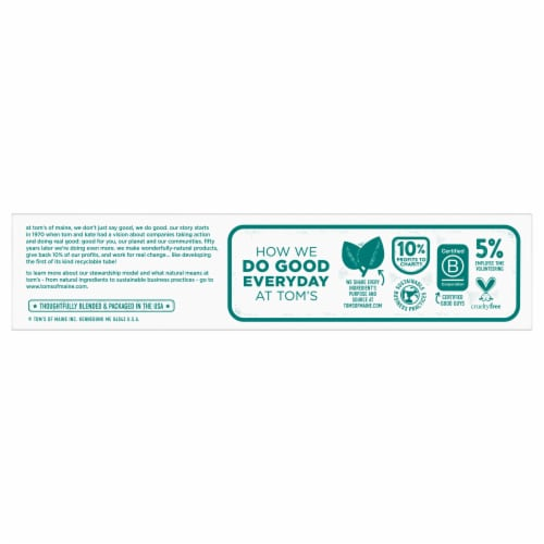 Tom's® Whole Care® Spearmint Gel Toothpaste Perspective: top