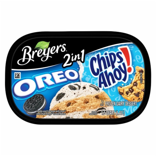 Breyers 2in1 Oreo and Chips Ahoy! Ice Cream Perspective: top