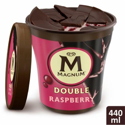 Magnum Dark Chocolate Raspberry Ice Cream Perspective: top