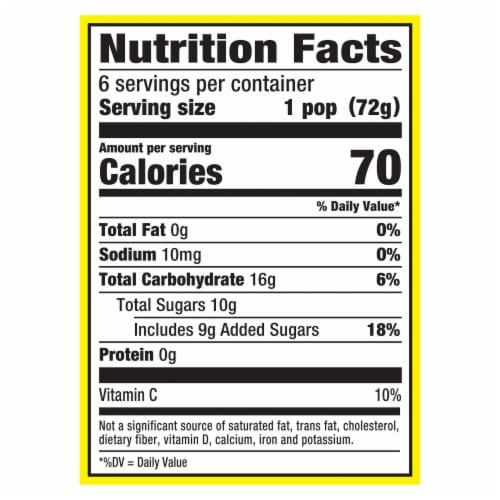 Popsicle® Fruit Twister Strawberry Blueberry & Vanilla Swirl Frozen Dairy Dessert Perspective: top