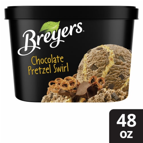 Breyers® Pretzel Swirl Ice Cream Perspective: top