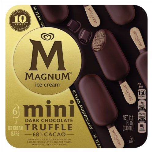 Magnum® Mini Dark Chocolate Truffle Ice Cream Bars Perspective: top