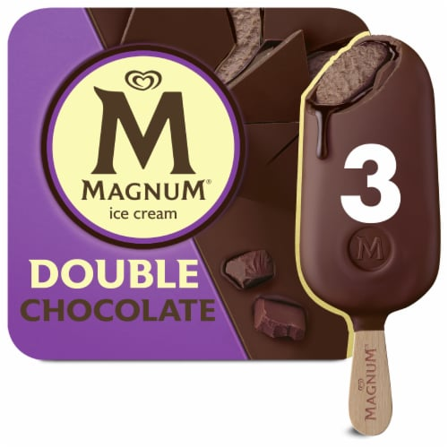Magnum Double Chocolate Ice Cream Bars Perspective: top
