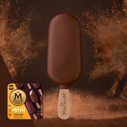 Magnum Mini Double Caramel Vanilla Ice Cream Bars Perspective: top