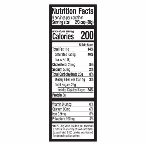 Breyers Mint Chocolate Chip Ice Cream Perspective: top