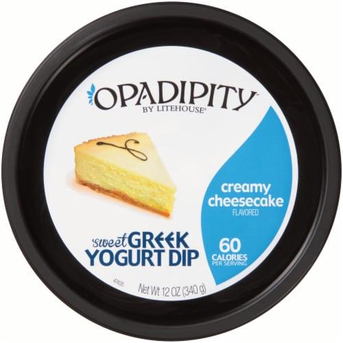 Opadipity by Litehouse Creamy Cheesecake Sweet Greek Yogurt Dip Perspective: top