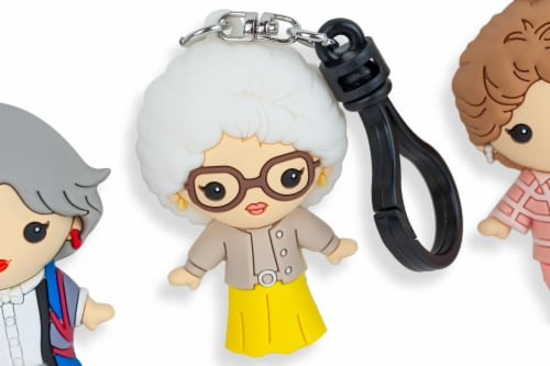 The Golden Girls 4-Piece Foam Figural Backpack Clip Figure Box Set Toynk Exclusive Perspective: top