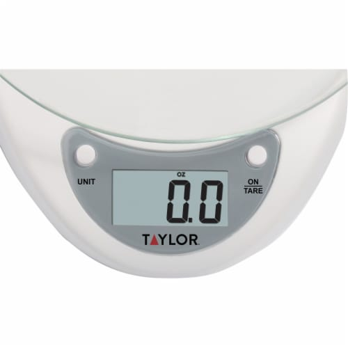 Taylor Precision Products 3831WH Digital Glass-Top Kitchen Scale Perspective: top