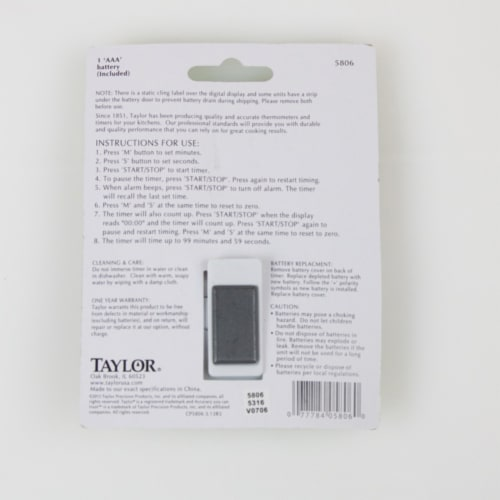 Taylor Multi Purpose Timer Perspective: top