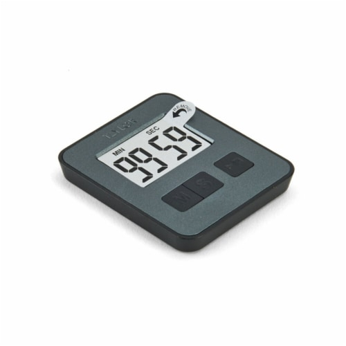 Taylor Mini Magnetic Digital Timer - Silver Perspective: top