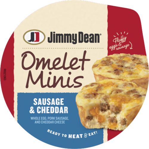 Jimmy Dean Sausage & Cheddar Mini Omelets Perspective: top