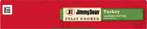 Jimmy Dean Fully Cooked Turkey Sausage Patties Perspective: top