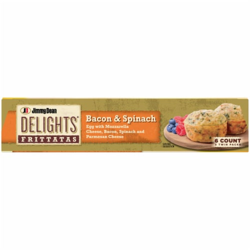 Jimmy Dean Delights® Bacon and Spinach Frittatas Perspective: top