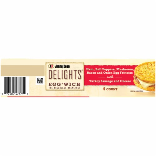 Jimmy Dean Delights® Ham Peppers & Mushroom Egg'wich Perspective: top