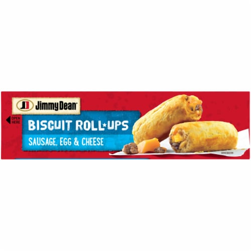 Jimmy Dean Sausage Egg & Cheese Biscuit Roll-Ups Perspective: top
