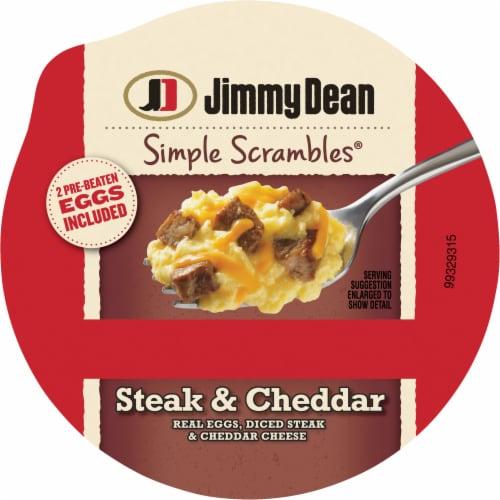 Jimmy Dean Simple Scrambles® Steak & Cheddar Breakfast Cup Perspective: top