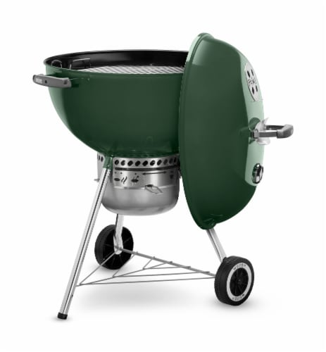 "Weber® Original Kettle™ Premium 22"" Charcoal Grill - Green Perspective: top"