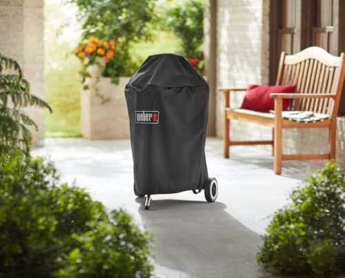 Weber Premium Charcoal Grill Cover Perspective: top