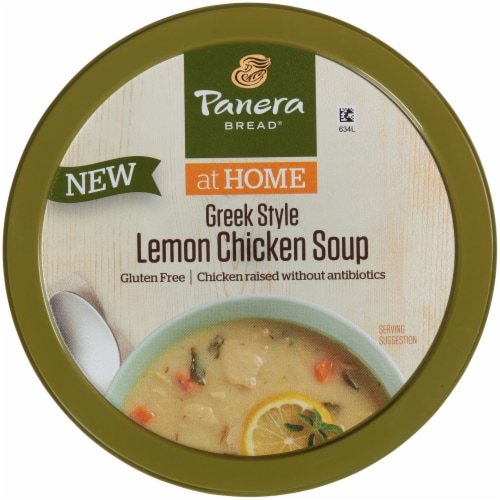 Panera Bread® at Home Gluten Free Greek-Style Lemon Chicken Soup Perspective: top